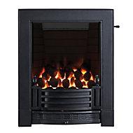 Focal Point Finsbury full depth Black Slide control Gas Fire FPFBQ523
