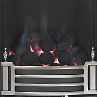 Focal Point Finsbury full depth Chrome effect Manual control Gas Fire FPFBQ098