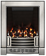 Focal Point Finsbury full depth Chrome effect Remote controlled Gas Fire FPFBQ248