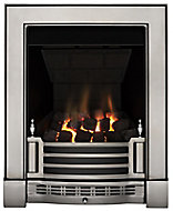 Focal Point Finsbury multi flue Chrome effect Remote controlled Gas Fire FPFBQ247