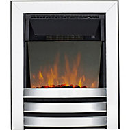 Focal Point Langham Chrome effect Electric Fire