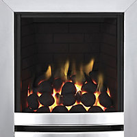 Focal Point Langham full depth Chrome effect Gas Fire
