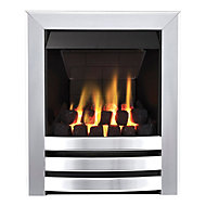 Focal Point Langham multi flue Chrome effect Gas Fire