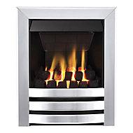 Focal Point Langham multi flue Chrome effect Manual control Gas Fire FPFBQ241