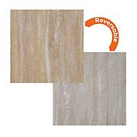 Focal Point Limestone & sandstone Stone effect Laminate Back panel (H)930mm (W)930mm