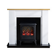 Focal Point Linford Oak & white Electric Fire suite