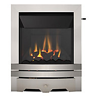 Focal Point Lulworth high efficiency Brushed stainless steel effect Slide control Gas Fire FPFBQ312