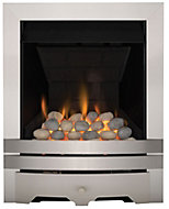 Focal Point Lulworth multi flue Brushed stainless steel effect Gas Fire