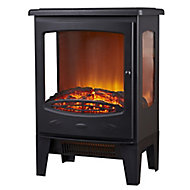 Focal Point Malmo Black Cast iron effect Electric Stove