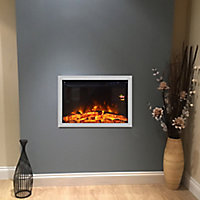 Focal Point Medford Chrome Chrome effect Electric Fire suite
