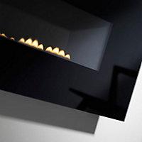 Focal Point Midnight Black glass frame Black Gas Fire