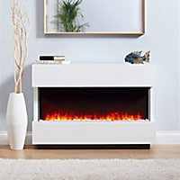 Focal Point Panoramic White Electric Fire Suite