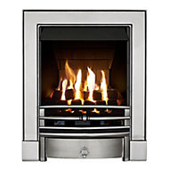 Focal Point Soho multi flue Chrome effect Gas Fire