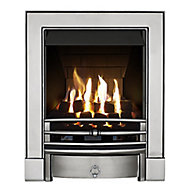 Focal Point Soho multi flue Chrome effect Remote controlled Gas Fire FPFBQ349