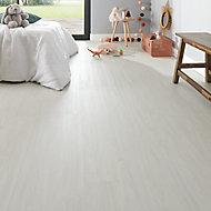 FOLK White Wood effect Luxury vinyl flooring tile, 2.24m² Pack