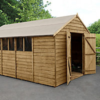 Forest Garden 10x15 Apex Overlap Wooden Shed