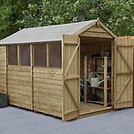 Forest Garden 10x6 Apex Overlap Wooden Shed - Assembly service included