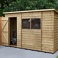 Forest Garden 10x6 Pent Overlap Wooden Shed - Assembly service included