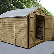 Forest Garden 10x8 Apex Overlap Wooden Shed