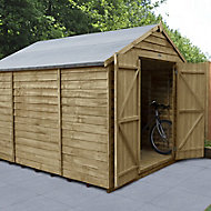 Forest Garden 10x8 Apex Pressure treated Overlap Wooden Shed with floor - Assembly service included