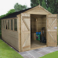 Forest Garden 12x8 Apex Pressure treated Tongue & groove Wooden Shed with floor - Assembly service included