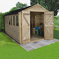 Forest Garden 12x8 Apex Pressure treated Tongue & groove Wooden Shed with floor