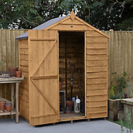 Forest Garden 5x3 Apex Overlap Wooden Shed - Assembly service included