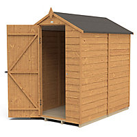 Forest Garden 6x4 Apex Dip treated Overlap Wooden Shed with floor