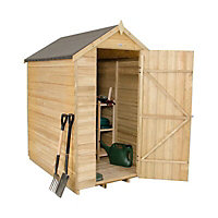 Forest Garden 6x4 Apex Overlap Wooden Shed - Assembly service included