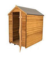 Forest Garden 6x4 Apex Overlap Wooden Shed (Base included) - Assembly service included
