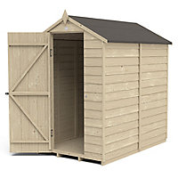 Forest Garden 6x4 Apex Overlap Wooden Shed