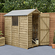 Forest Garden 6x4 Apex Pressure treated Overlap Wooden Shed with floor