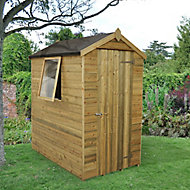 Forest Garden 6x4 Apex Pressure treated Tongue & groove Wooden Shed with floor