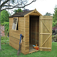Forest Garden 6x4 Apex Tongue & groove Wooden Shed - Assembly service included