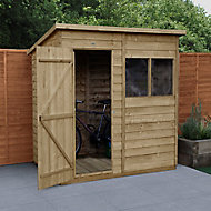 Forest Garden 6x4 Pent Overlap Wooden Shed