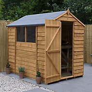 Forest Garden 7x5 Apex Overlap Wooden Shed (Base included)