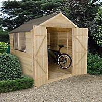 Forest Garden 7x7 Apex Overlap Wooden Shed - Assembly service included