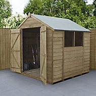 Forest Garden 7x7 Apex Overlap Wooden Shed
