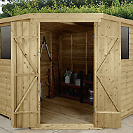 Forest Garden 7x7 Overlap Wooden Shed - Assembly service included