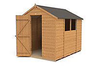 Forest Garden 8x6 Apex Dip treated Overlap Wooden Shed with floor - Assembly service included