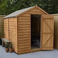 Forest Garden 8x6 Apex Dip treated Overlap Wooden Shed with floor