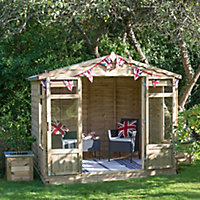Forest Garden 8x6 Apex Overlap Summer house - Assembly service included
