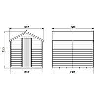 Forest Garden 8x6 Apex Overlap Wooden Shed - Assembly service included