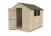 Forest Garden 8x6 Apex Overlap Wooden Shed (Base included)