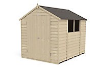 Forest Garden 8x6 Apex Pressure treated Overlap Wooden Shed with floor