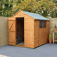 Forest Garden 8x6 Apex Shiplap Shed (Base included) - Assembly service included