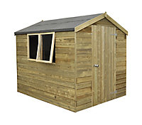 Forest Garden 8x6 Apex Tongue & groove Wooden Shed - Assembly service included
