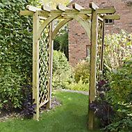 Forest Garden Arch Pergola, (H)2450mm (W)1820mm
