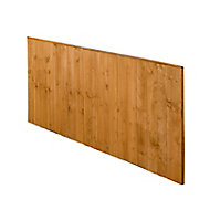 Forest Garden Dip treated Fence panel (W)1.83m (H)0.93m, Pack of 3