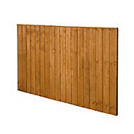 Forest Garden Dip treated Fence panel (W)1.83m (H)1.23m, Pack of 4